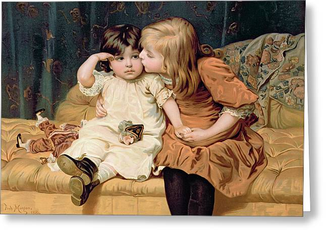 Consoling Paintings Greeting Cards - Nevermind Greeting Card by Frederick Morgan