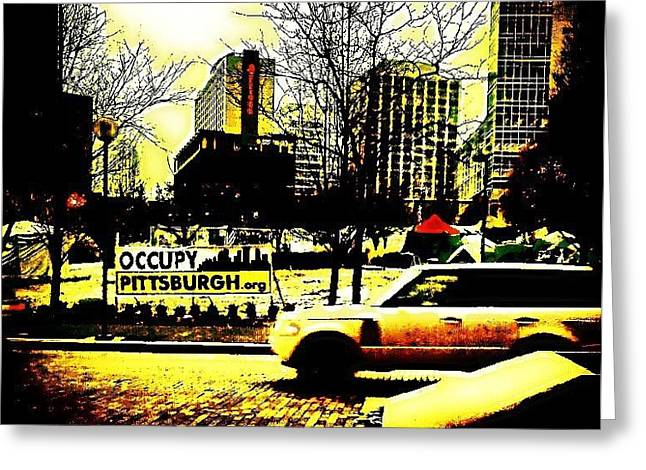 Occupy Greeting Cards - New Age Movement Greeting Card by Tonya Scales