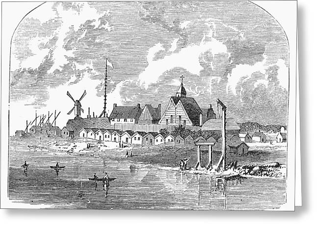 Scenic Drive Greeting Cards - New Amsterdam, 1650 Greeting Card by Granger