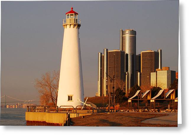 Renaissance Center Greeting Cards - New And The Old Greeting Card by Michael Peychich