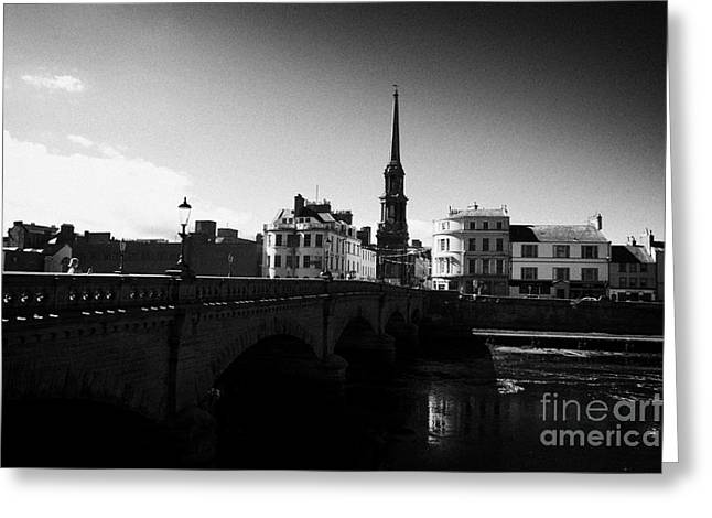 New Britain Greeting Cards - New Bridge Over The River Ayr In The Town Centre Of Ayr South Ayrshire Scotland Uk United Kingdom Greeting Card by Joe Fox