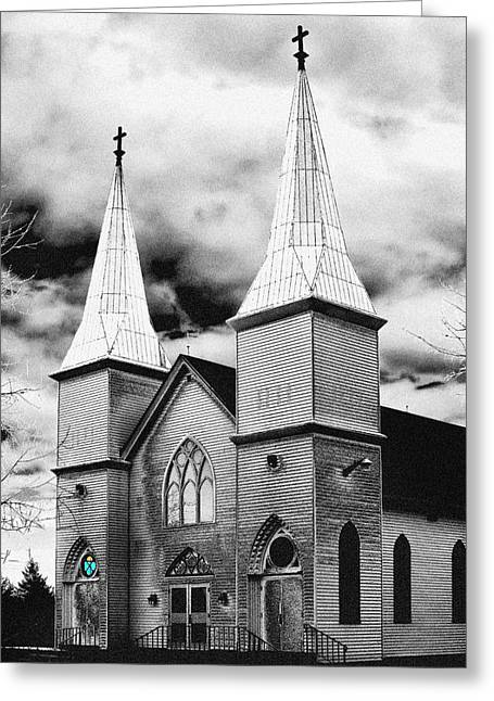 Photogaph Greeting Cards - New Brunswick Church Greeting Card by Donald Schwartz