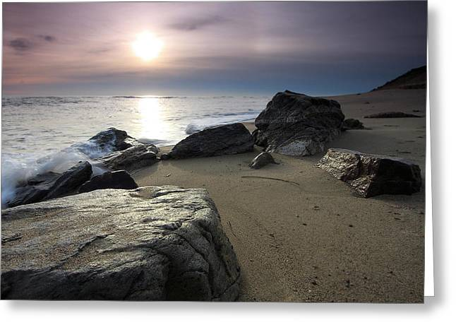 Ocean Art Photography Greeting Cards - New Day Greeting Card by Dapixara Art