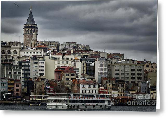 Byzantine Greeting Cards - New District Skyline Greeting Card by Joan Carroll