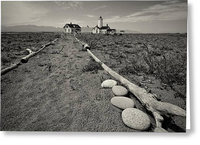 Wildlife Refuge. Greeting Cards - New Dungeness Lighthouse Greeting Card by Dan Mihai