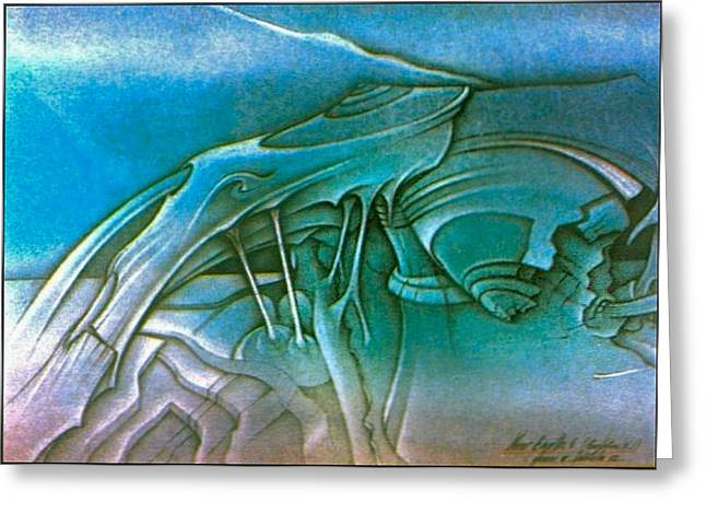 Roots Pastels Greeting Cards - New Earth4 1992 Greeting Card by Glenn Bautista