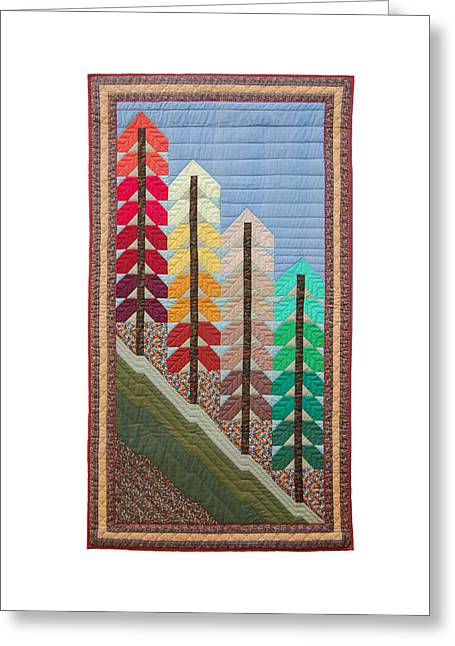 King Tapestries - Textiles Greeting Cards - New England Autumn Greeting Card by Deborah King