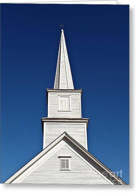 Vermont Village Greeting Cards - New England Church Greeting Card by John Greim