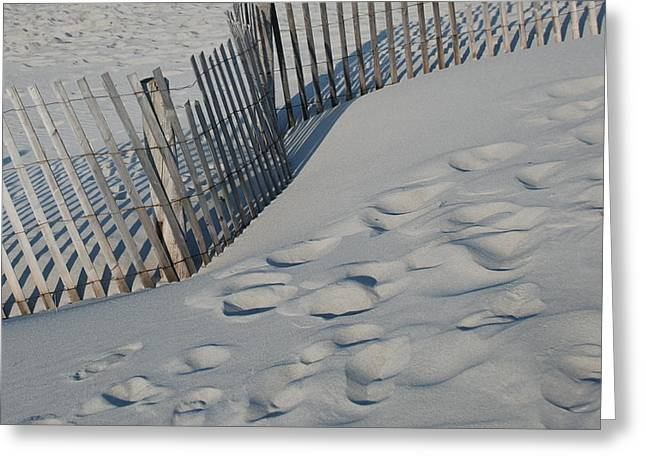 Cohasset Greeting Cards - New England footprints Greeting Card by Gene Sizemore