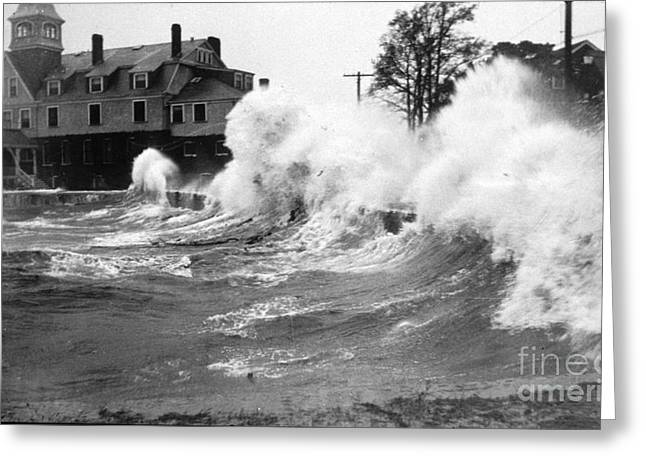 Yankees Greats Greeting Cards - New England Hurricane, 1938 Greeting Card by Science Source