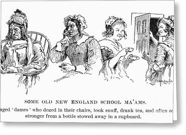 New England: Schoolmarms Greeting Card by Granger