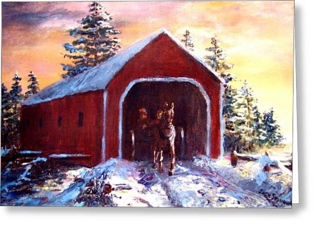 Jack Skinner Greeting Cards - New England Winter Crossing Greeting Card by Jack Skinner