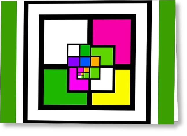 Monochrome Greeting Cards - New Green Greeting Card by Charles Stuart