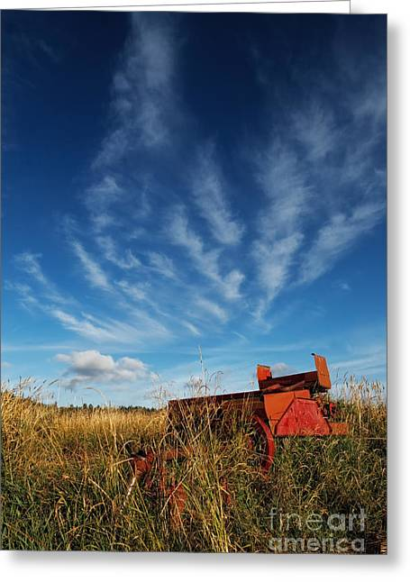 Field. Cloud Greeting Cards - New Holland Greeting Card by Reflective Moment Photography And Digital Art Images