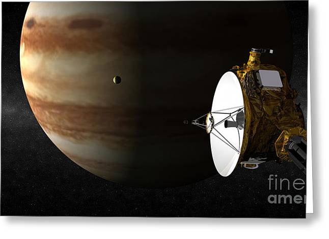 Astronomical Research Greeting Cards - New Horizons Flies By Jupiter Greeting Card by Johns Hopkins University APL / Southwest Research Institute