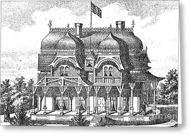 1876 Greeting Cards - NEW JERSEY: HOUSE, c1876 Greeting Card by Granger