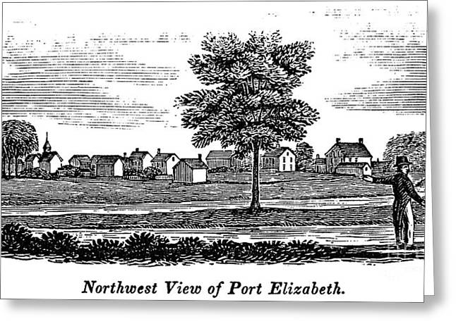 Port Elizabeth Greeting Cards - New Jersey: Port Elizabeth Greeting Card by Granger
