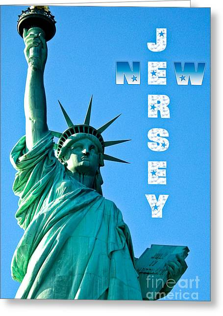 Sell The Freedom Greeting Cards - New Jersey Greeting Card by Syed Aqueel
