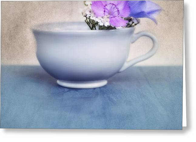new life for an old coffee cup Greeting Card by Priska Wettstein