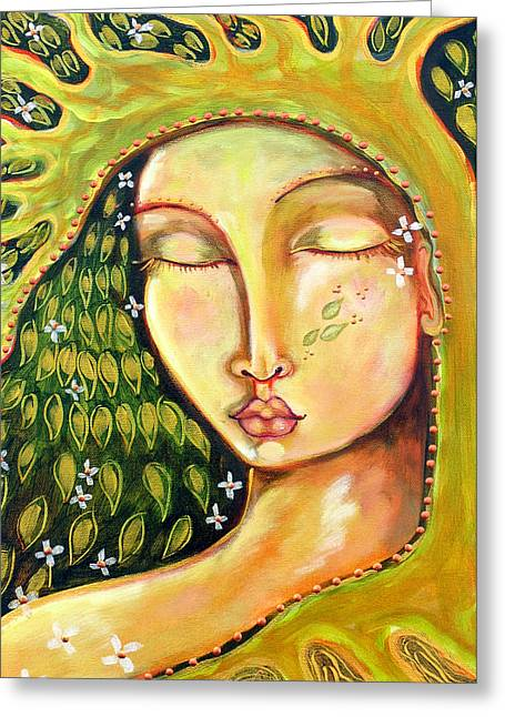 Cosmic Paintings Greeting Cards - New Life Greeting Card by Shiloh Sophia McCloud