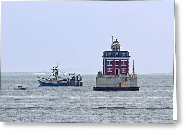 New London Ledge Lighthouse. Greeting Card by David Freuthal