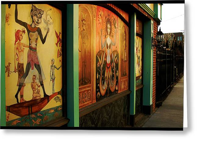 Catwoman Photographs Greeting Cards - New London Mural Greeting Card by Jeff Ortakales