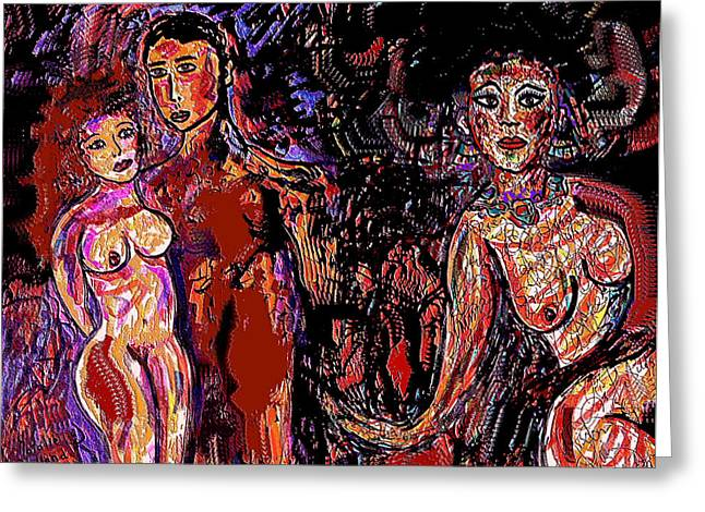 Young Nude Man Mixed Media Greeting Cards - New Love Greeting Card by Natalie Holland