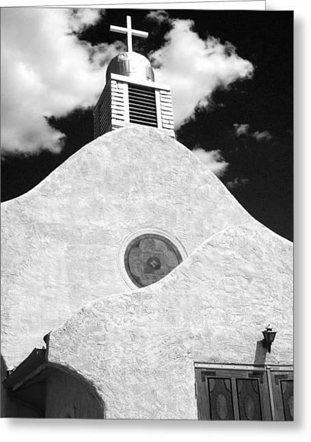 Jemez Mountains Greeting Cards - New Mexico Church Greeting Card by Sonja Quintero