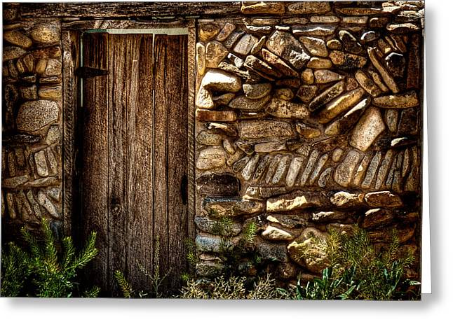 Taos Greeting Cards - New Mexico Door II Greeting Card by David Patterson