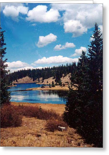 Linda Pope Greeting Cards - New Mexico Lake Greeting Card by Linda Pope