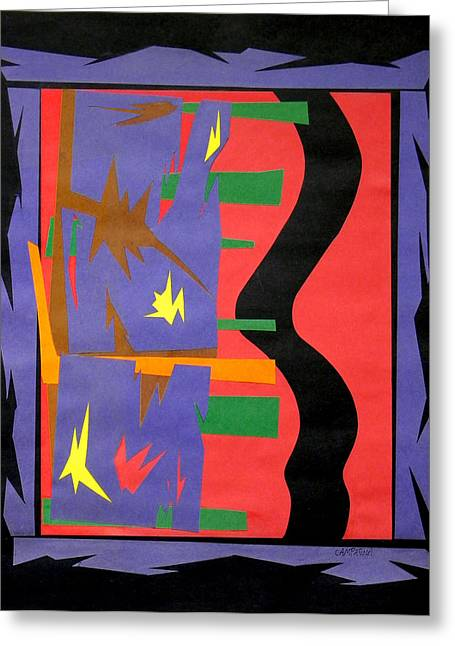 Paper Tapestries - Textiles Greeting Cards - New Mexico On My Mind Greeting Card by Teddy Campagna