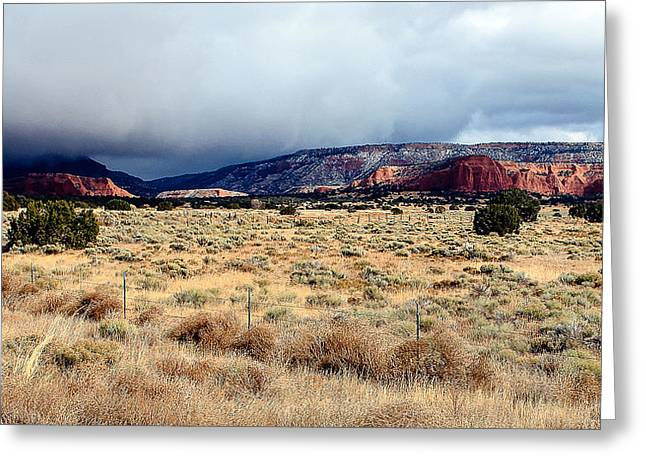 Coolidge Greeting Cards - New Mexico Panorama Greeting Card by William Oswald