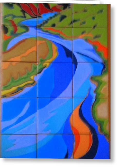 Hills Ceramics Greeting Cards - New Mexico River Greeting Card by Yana Yatsyk