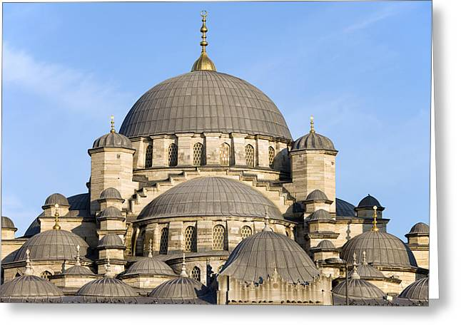 Stanbul Greeting Cards - New Mosque in Istanbul Greeting Card by Artur Bogacki