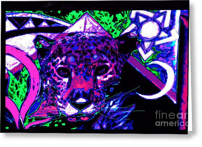 New Mu Jaguar Greeting Card by Susanne Still