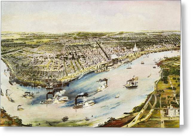 1851 Greeting Cards - New Orleans, 1851 Greeting Card by Granger