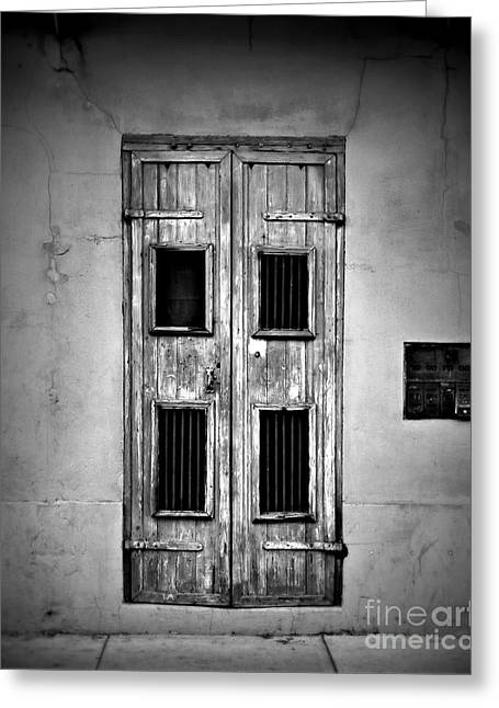 French Door Greeting Cards - New Orleans Classic Doors Greeting Card by Perry Webster