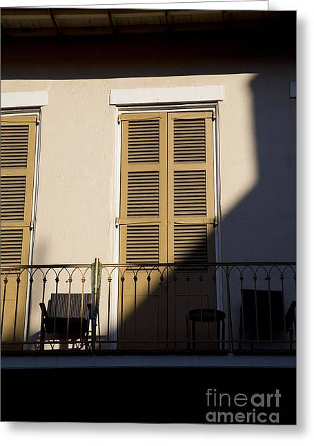 Leslie Leda Greeting Cards - New Orleans Shadows Greeting Card by Leslie Leda