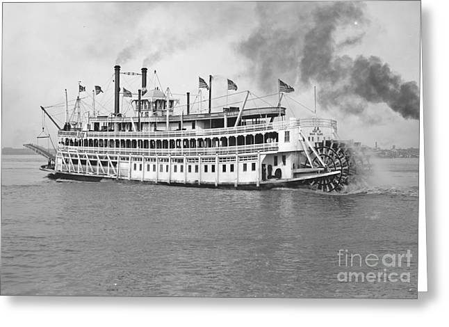 New Orleans Steamboat Cruise 1905 Greeting Card by Padre Art