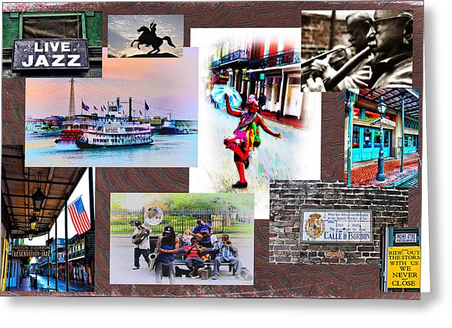 Intruments Greeting Cards - New Orleans the Birthplace of Jazz Greeting Card by Bill Cannon