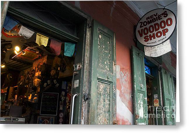 New Orleans Voodoo Shop Greeting Card by Jeanne  Woods