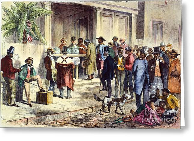 Voting Rights Greeting Cards - New Orleans: Voting, 1867 Greeting Card by Granger