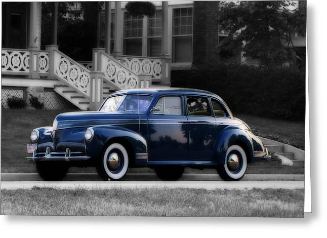 Collector Car Mixed Media Greeting Cards - New Paint Greeting Card by Ms Judi