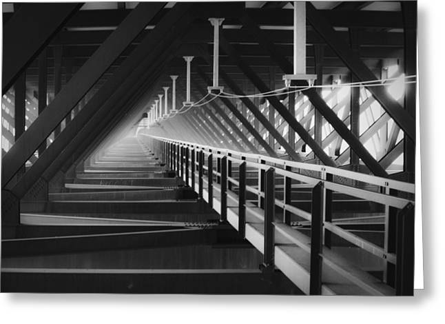 Fayetteville Greeting Cards - New River Gorge Bridge Catwalk Greeting Card by Teresa Mucha