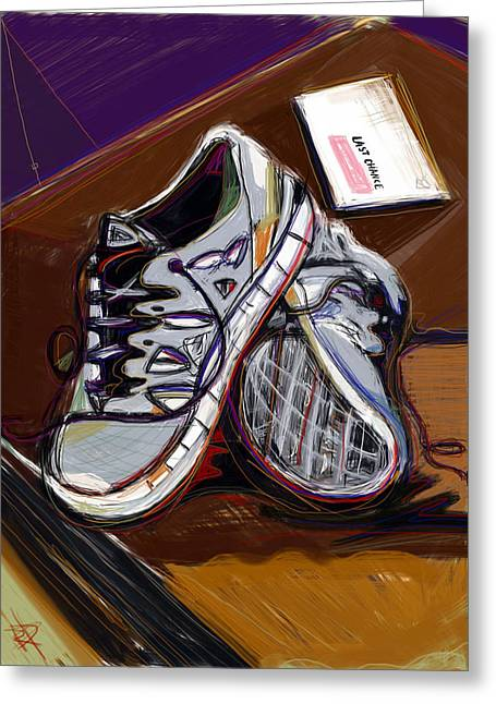 Nike Shoes Greeting Cards - New Sneaks Greeting Card by Russell Pierce