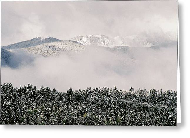 Bobcats Greeting Cards - New Snow On Bobcat Pass Greeting Card by Ron Weathers
