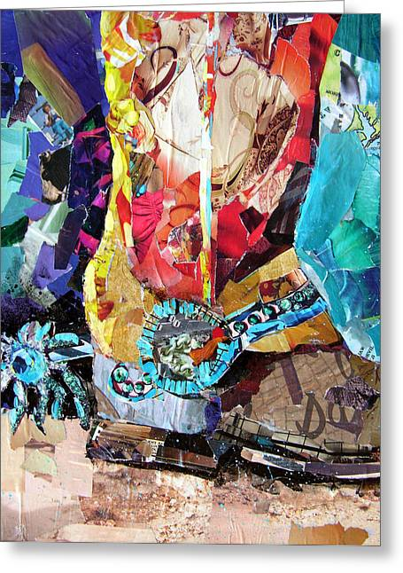 Torn Paintings Greeting Cards - New Spurs Greeting Card by Suzy Pal Powell
