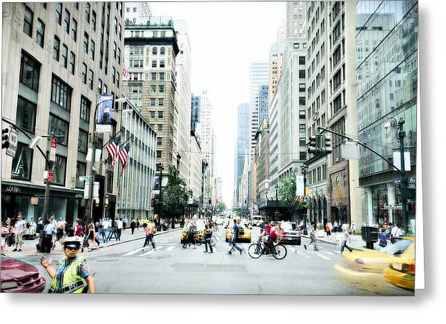5th Ave Greeting Cards - New York 006 Greeting Card by Per Lidvall