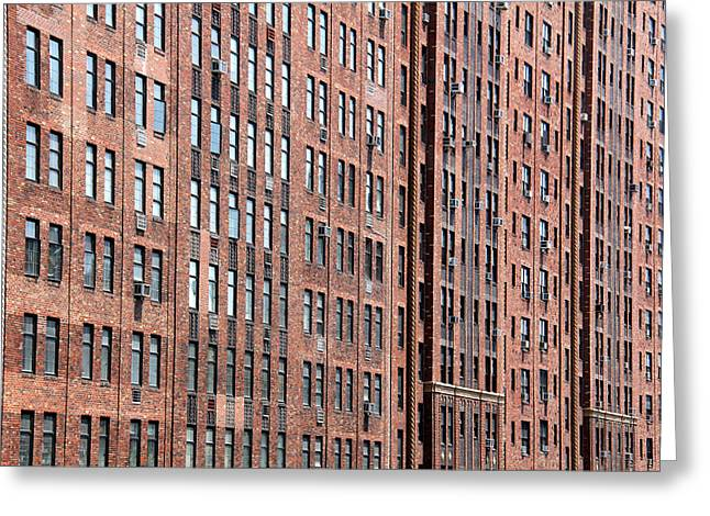 Brownstone Greeting Cards - New York 017 Greeting Card by Per Lidvall