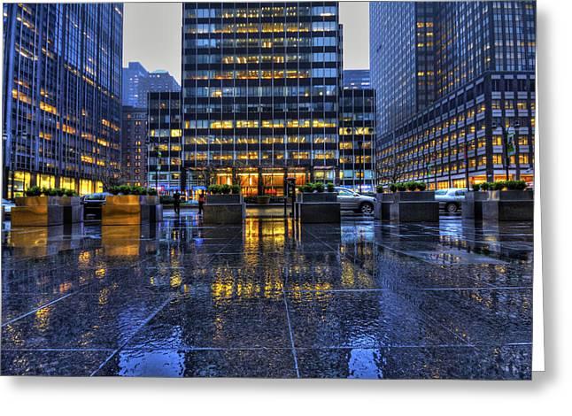 New York City Rain Greeting Cards - New York Blues Greeting Card by Evelina Kremsdorf